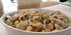 Gombás-csirkés gnocchi