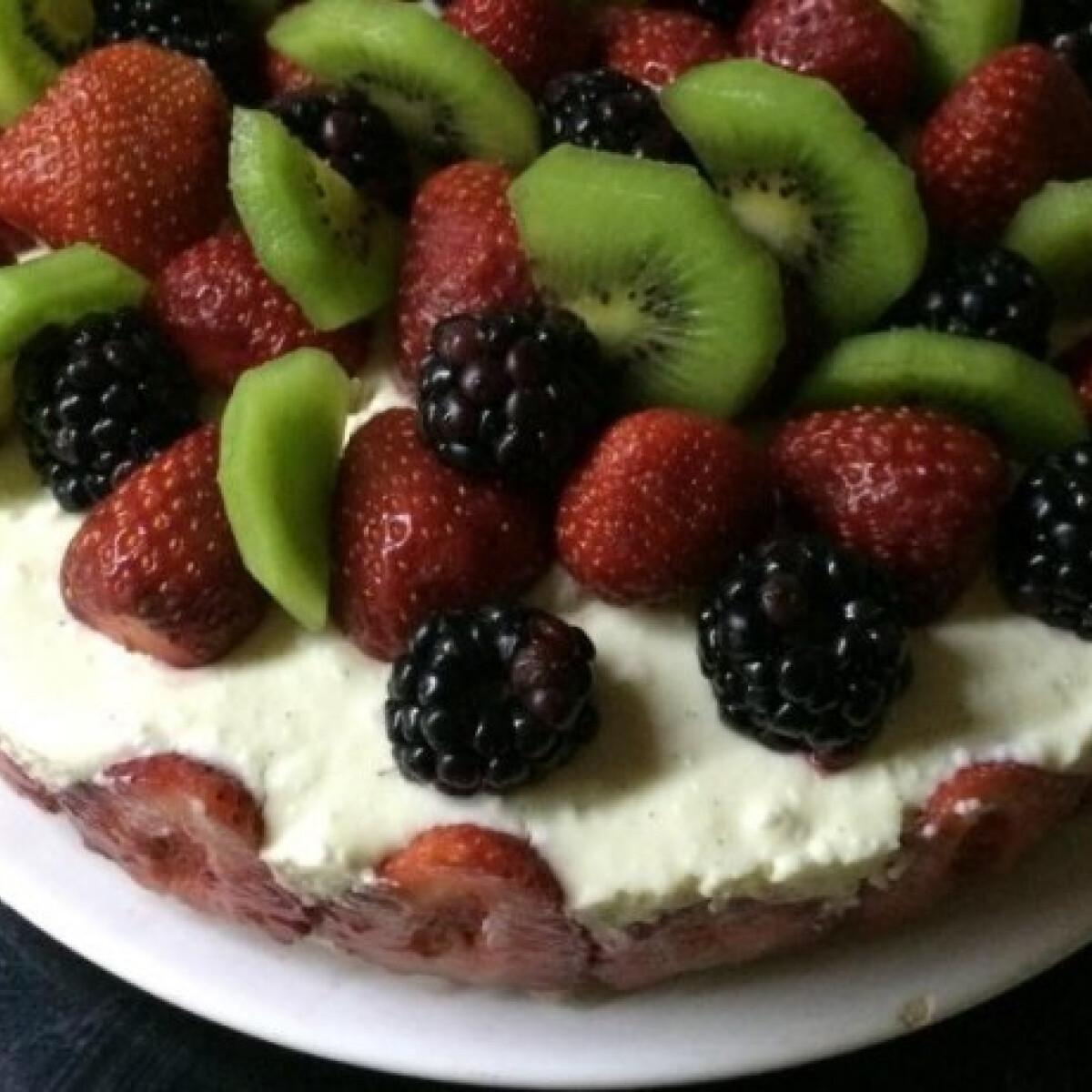 Gyümölcsös túrótorta Mi van itthon konyhájából