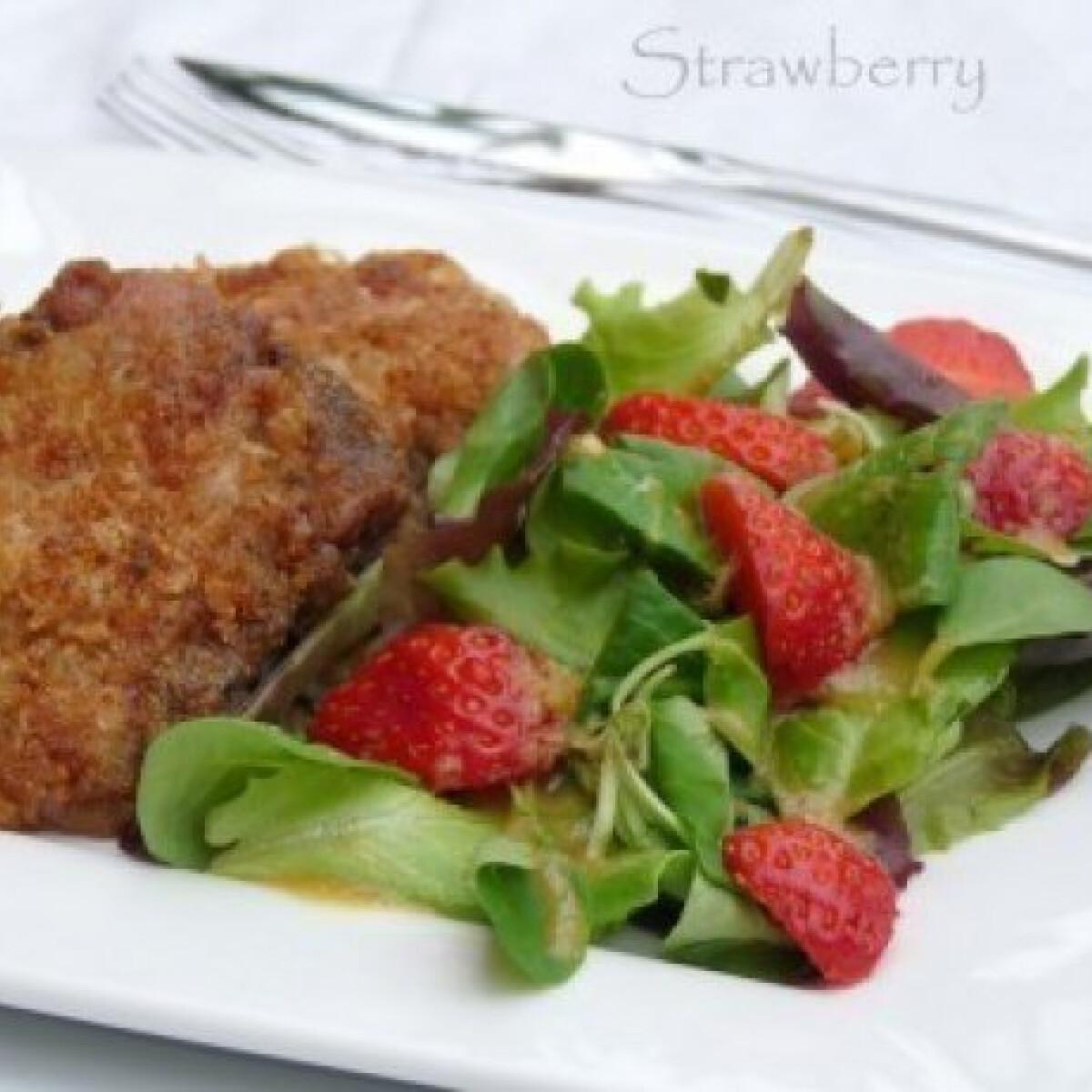 Ezen a képen: Vasalt csirkecomb filé citrusos salátával