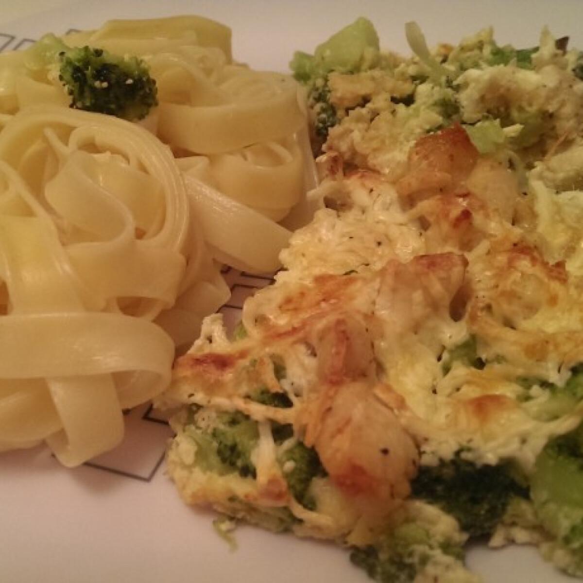Csirkehúsos rakott brokkoli