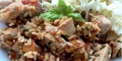 Rókagombás rizses hús