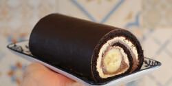 Csokoládés-banános tekercs
