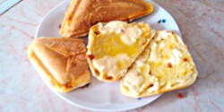 Gluténmentes kenyér szendvicssütőben