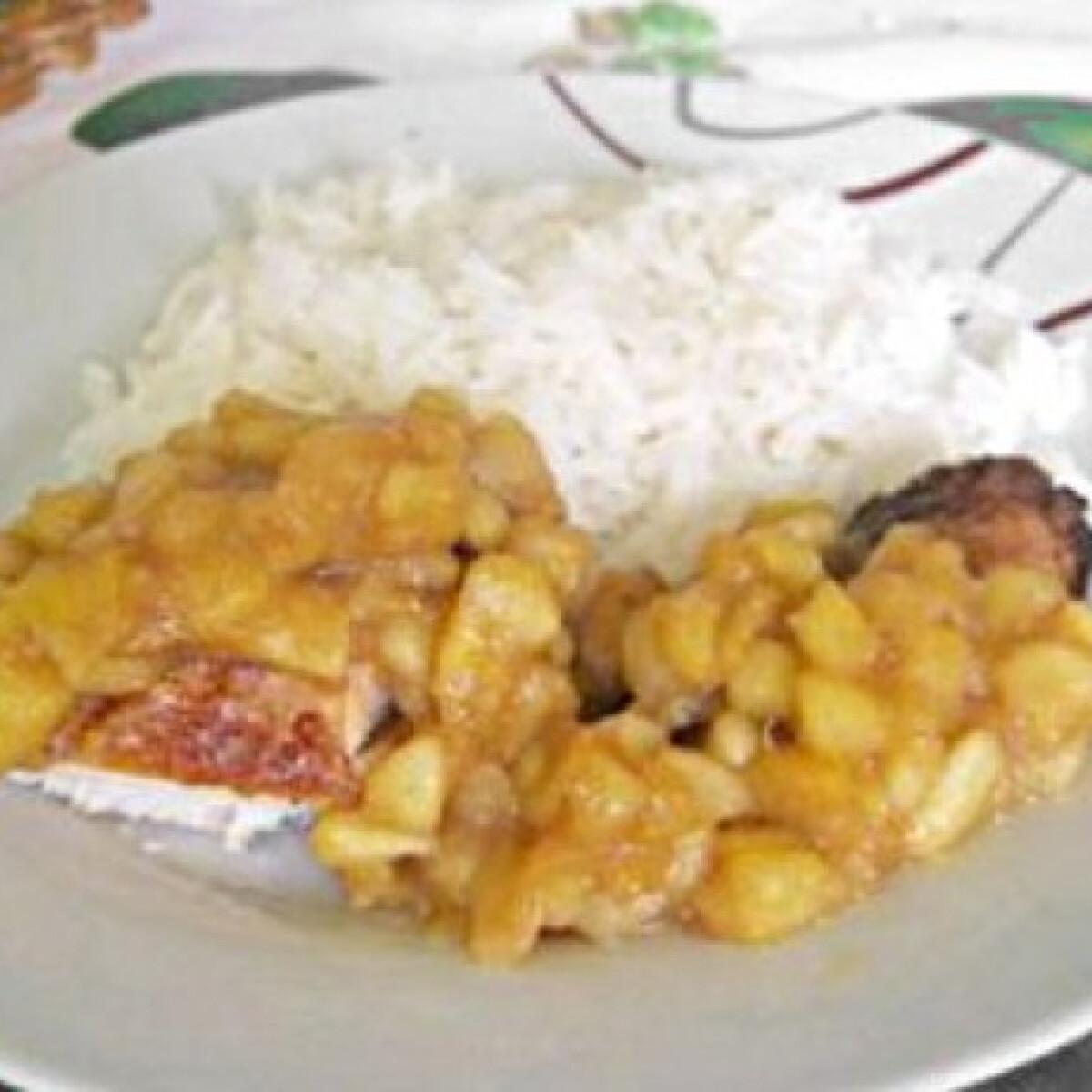 Fahéjas almás csirkemell jázmin rizzsel