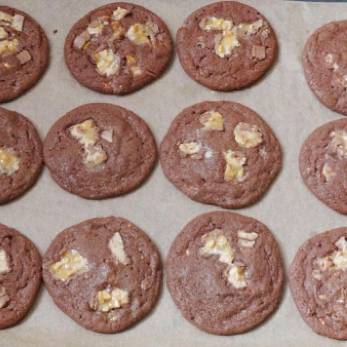 Ezen a képen: Snickers cookie