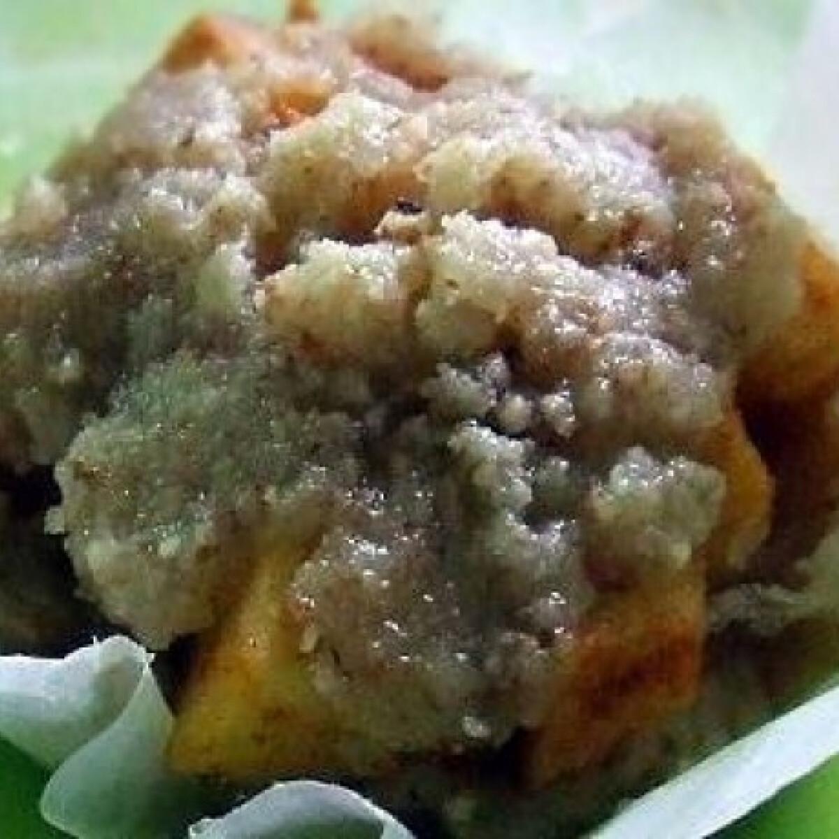 Almás-morzsás muffin kosárkák