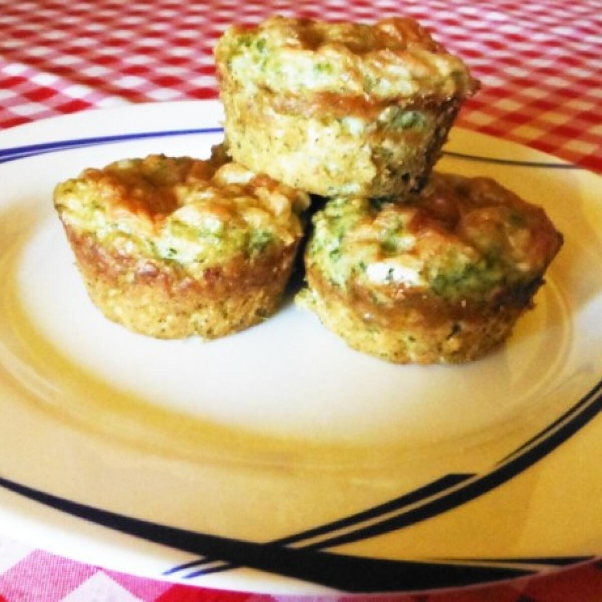 Spenótos fetás muffin