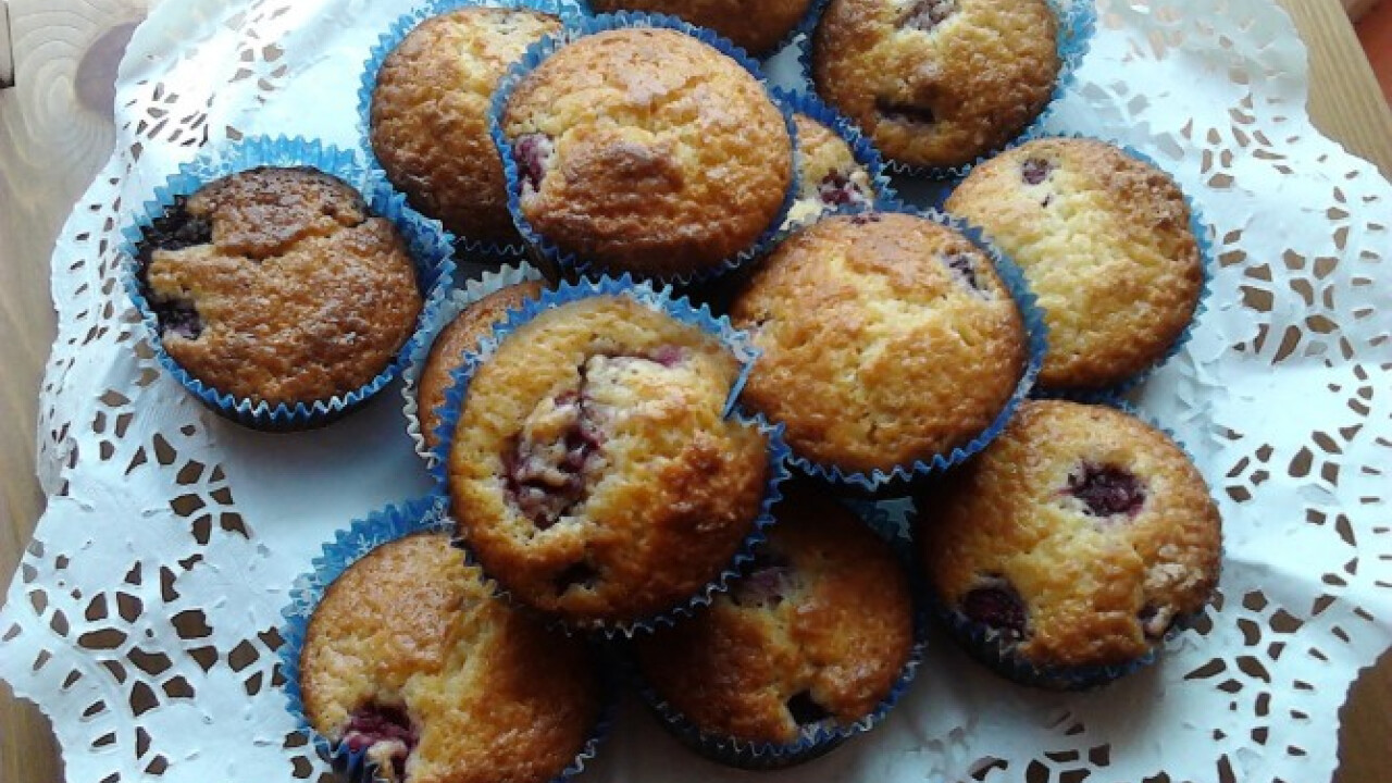 Citromos-málnás muffin