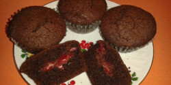 Csokis-meggyes muffin tekovacs konyhájából