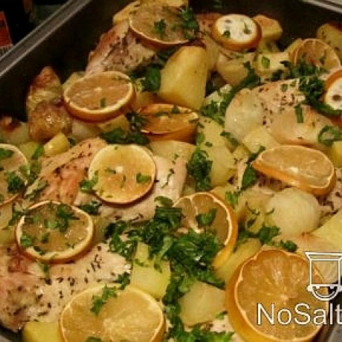 Ezen a képen: Görög citromos csirke