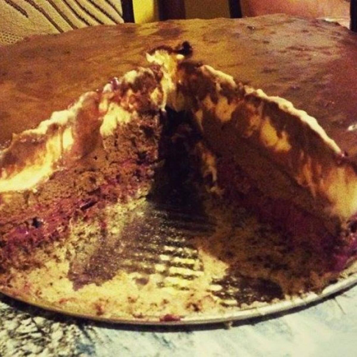 Krémes csokis-túrós torta