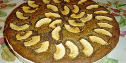 Mákos-almás pite