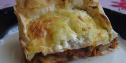 Csirkés-gombás lasagne-rétes