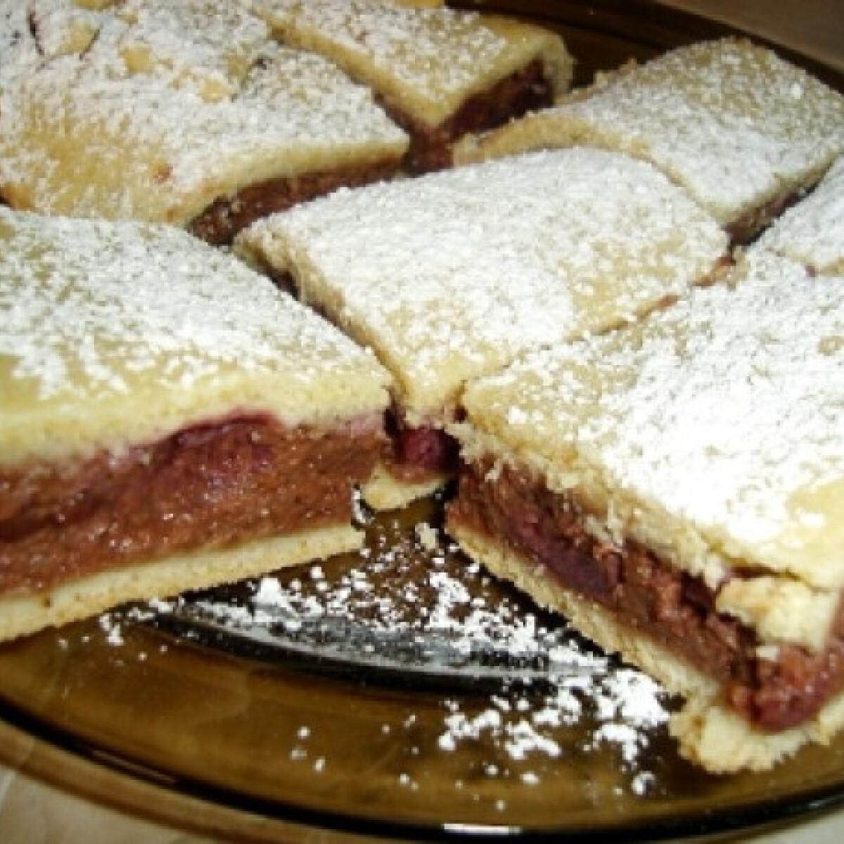 Ezen a képen: Csokis-grízes pite