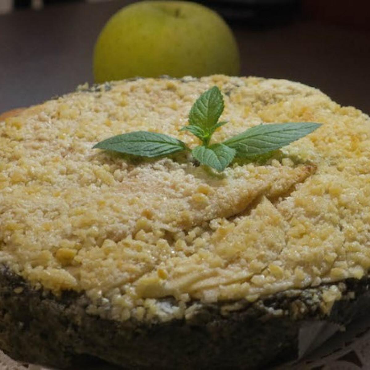 Diétás almás-fekete szezámmagos zabpehely torta