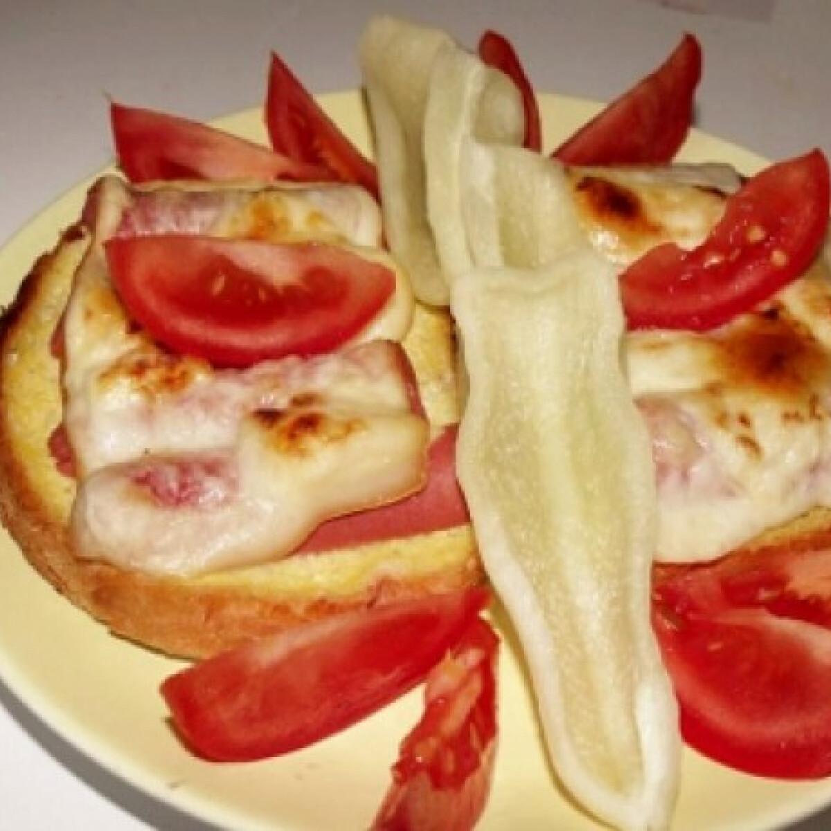 Ezen a képen: Dupla sajtos melegszendvics bécsi virslivel
