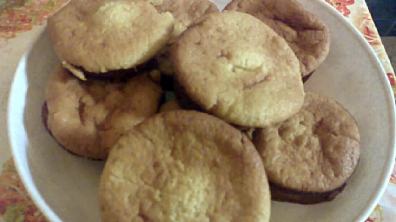 Banánpudingos muffin