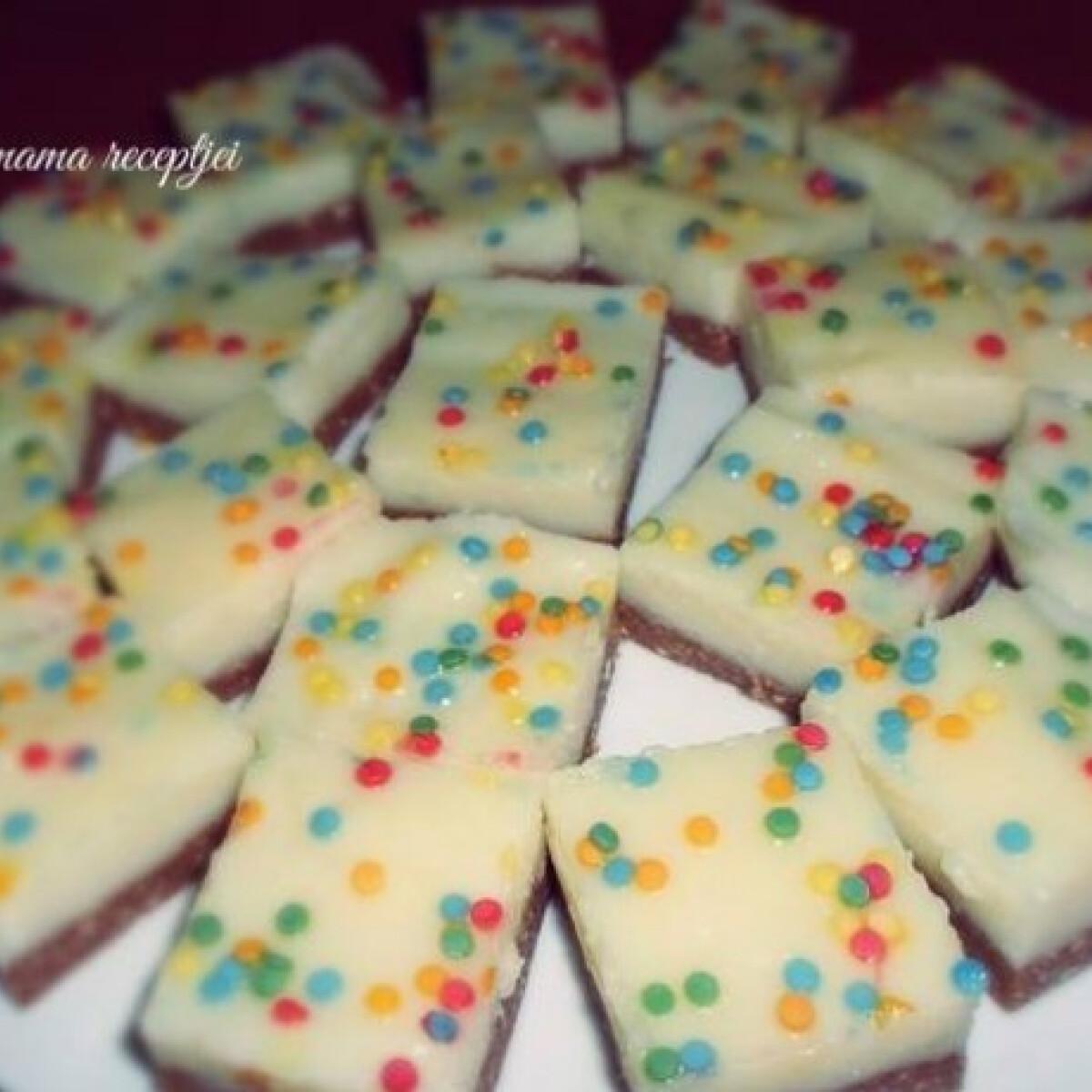 Ezen a képen: Sütés nélküli pudingos édesség