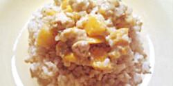 Barackos-tejszínes csirke rizzsel