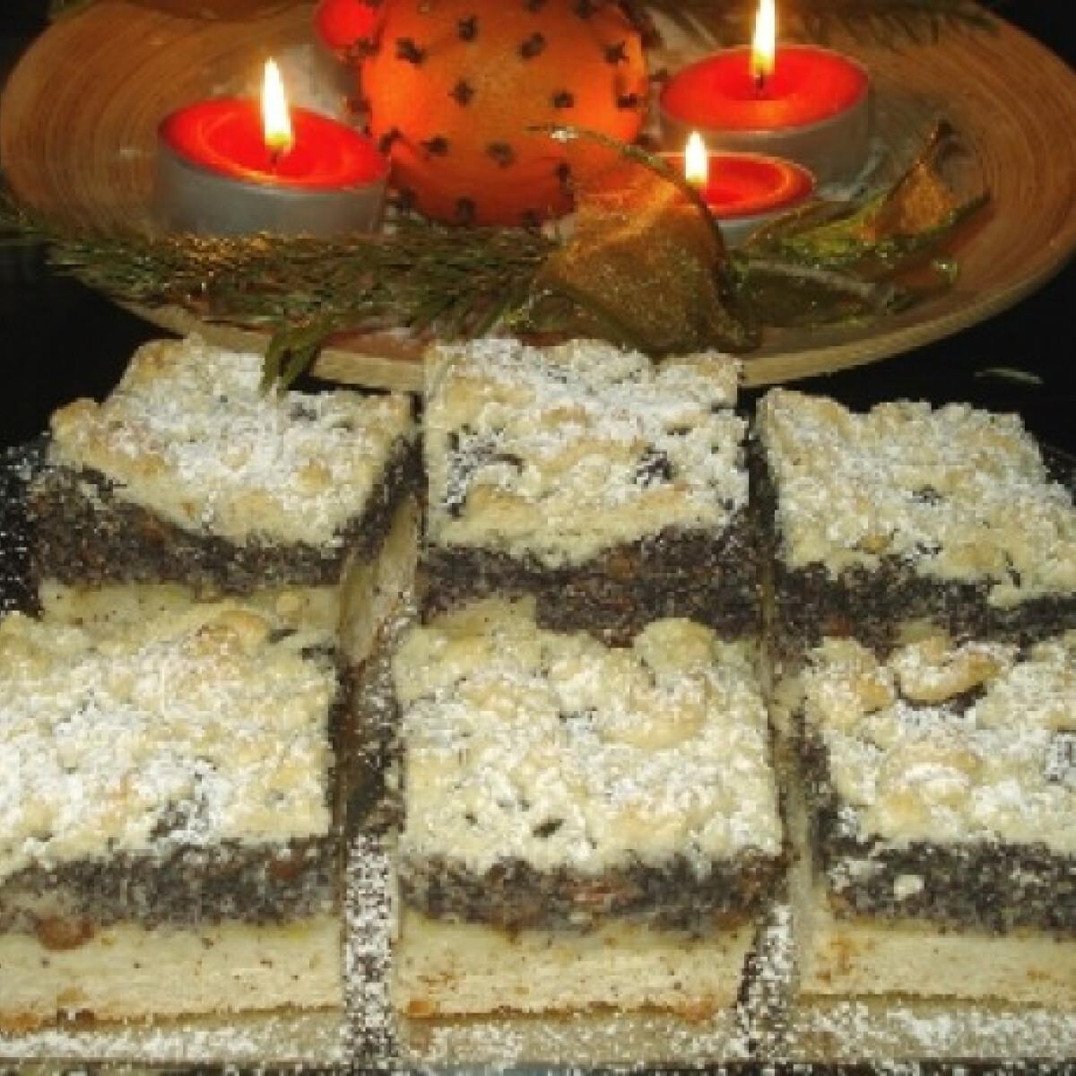 Almás-mákos morzsás süti