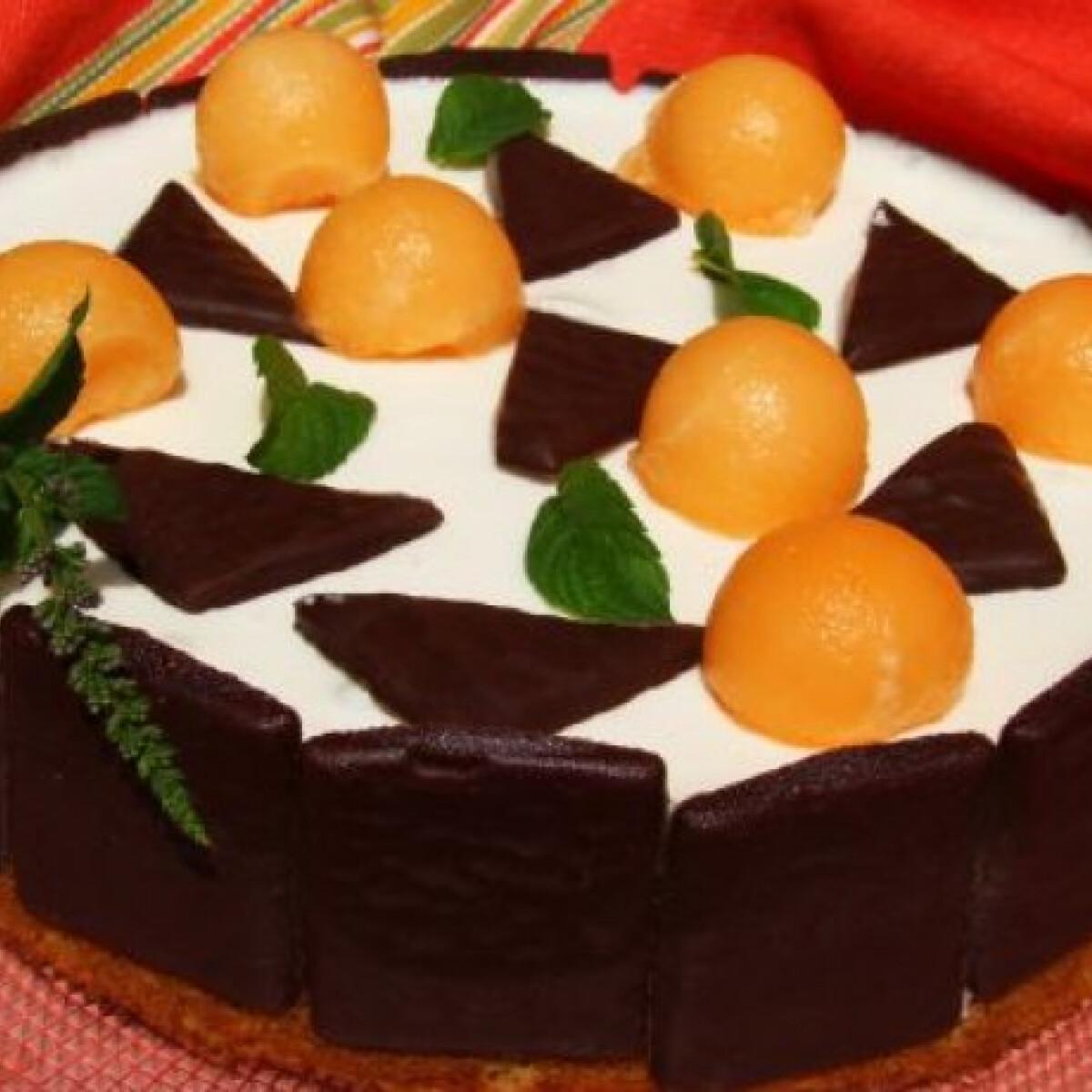 Mentás-csokis joghurttorta