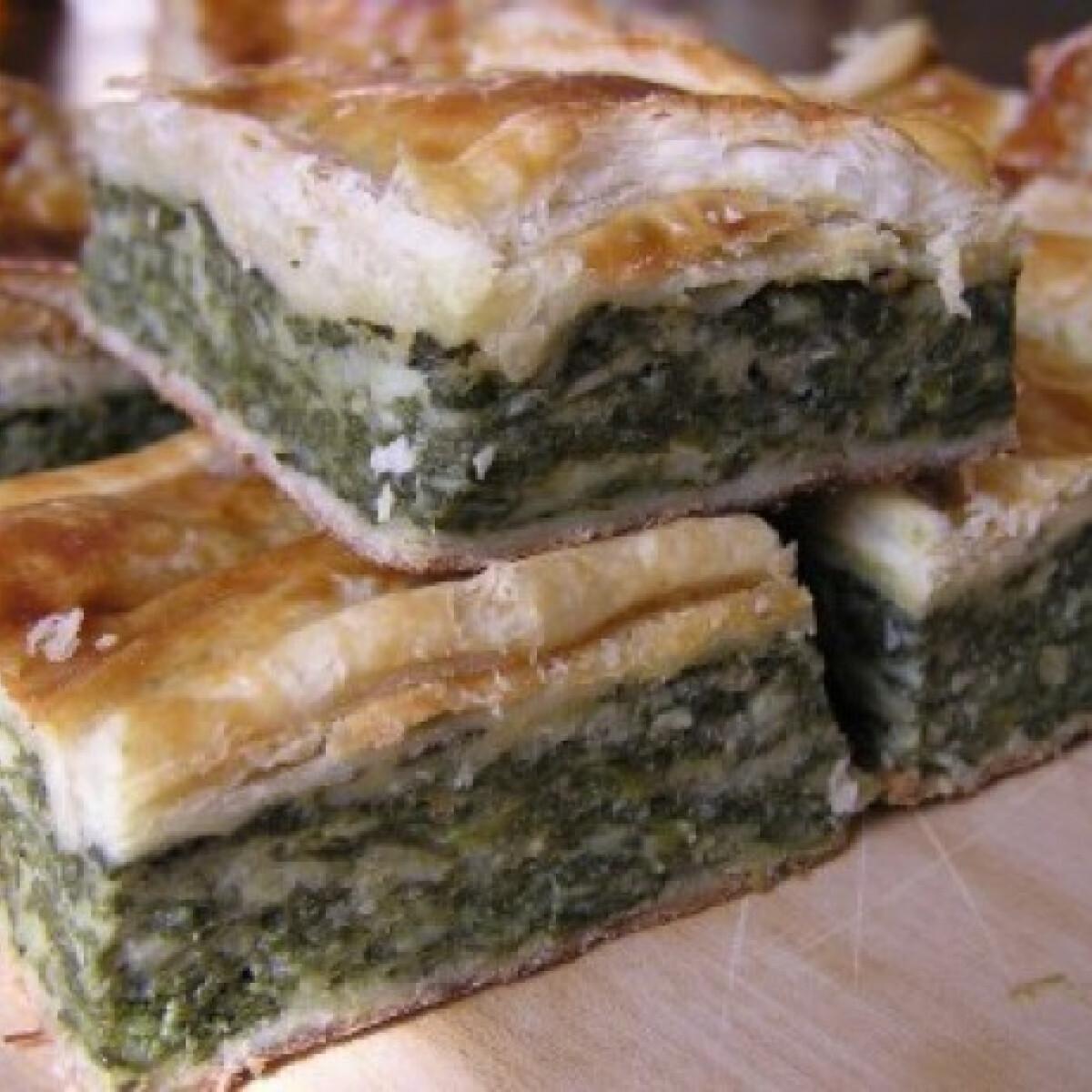 Ezen a képen: Spenótos-sajtos lepény