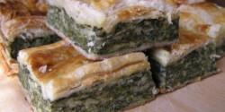 Spenótos-sajtos lepény