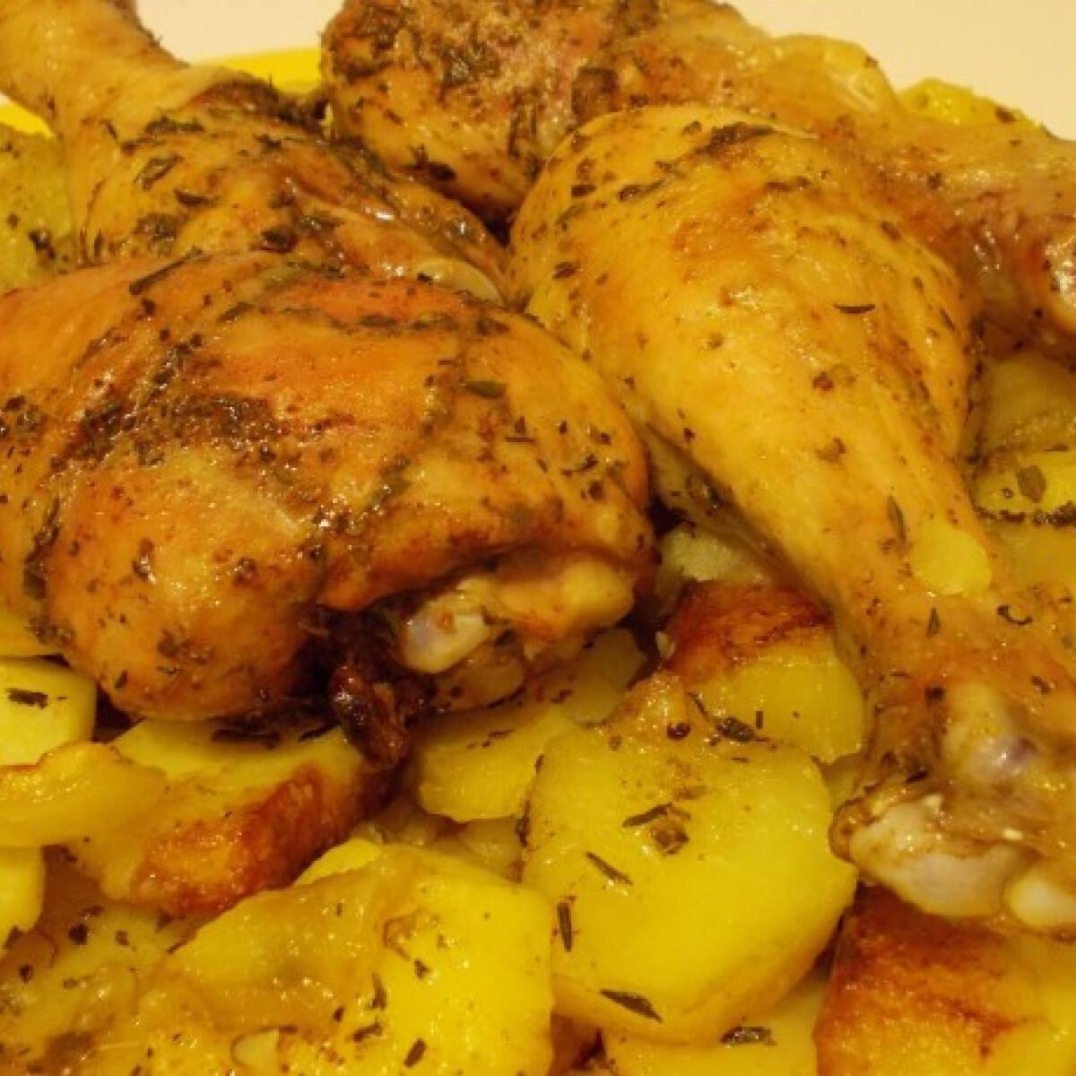 Fűszeres csirke krumplival