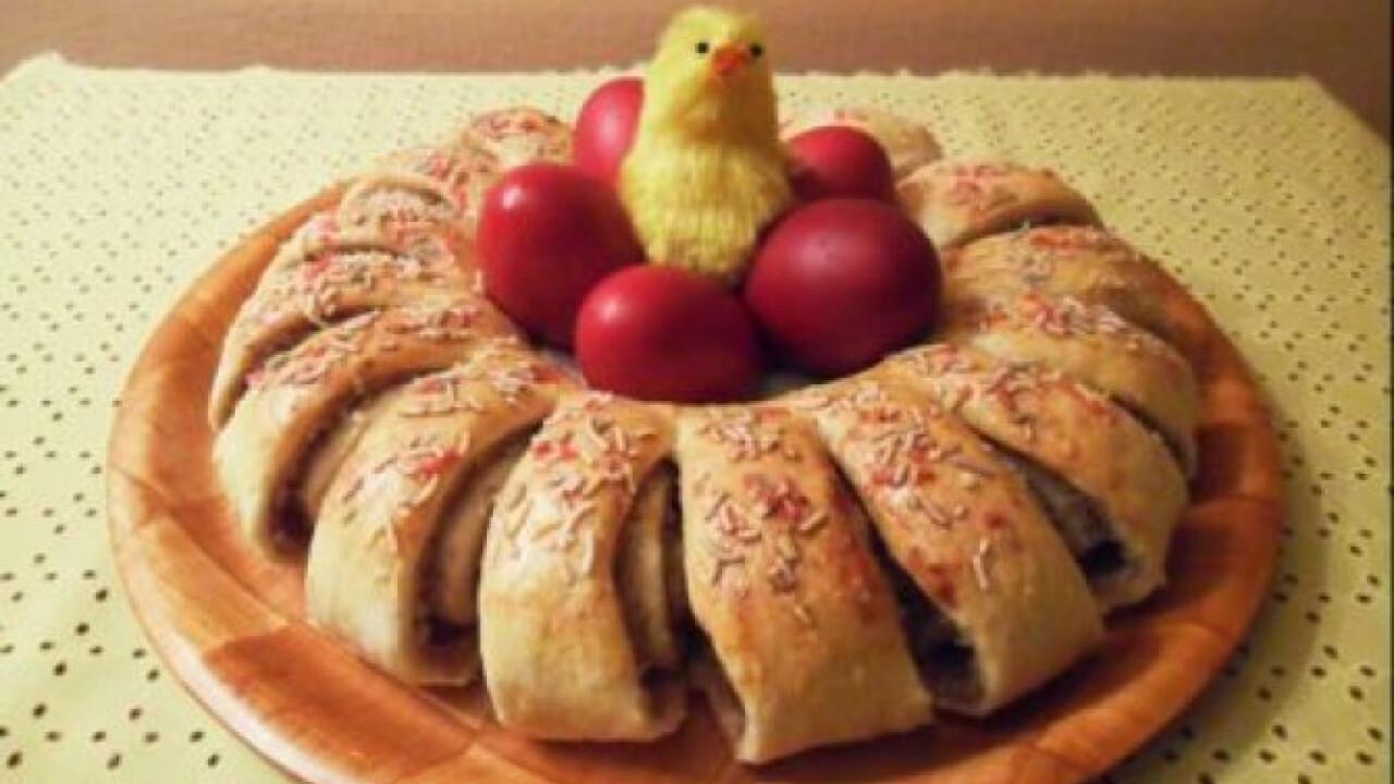 Húsvéti diós koszorú