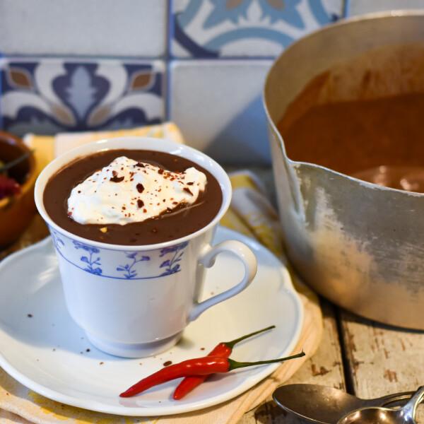 Vianne chilis forró csokoládéja