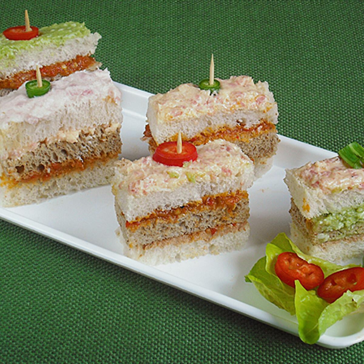 Vendégváró mini szendvics