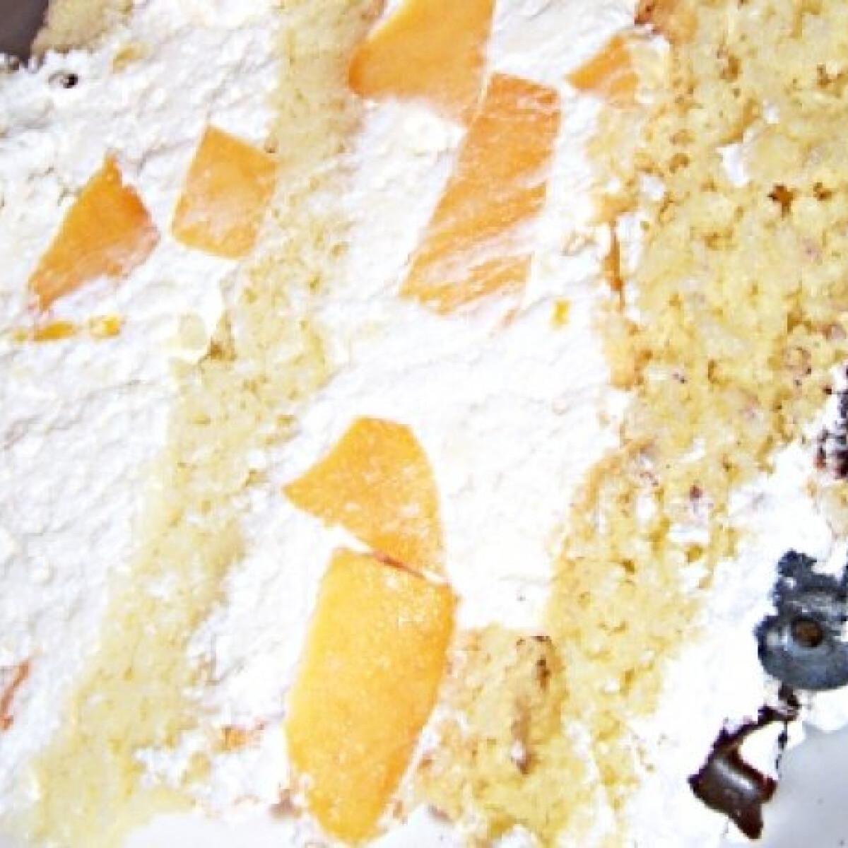 Ezen a képen: Barackos túrótorta andilla konyhájából