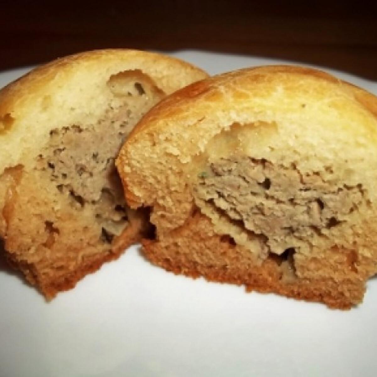 Csirkemájjal töltött muffin