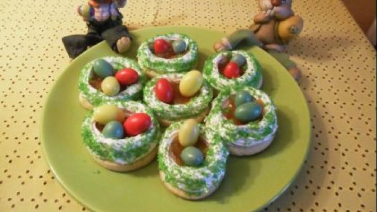 Húsvéti habos tojásfészek