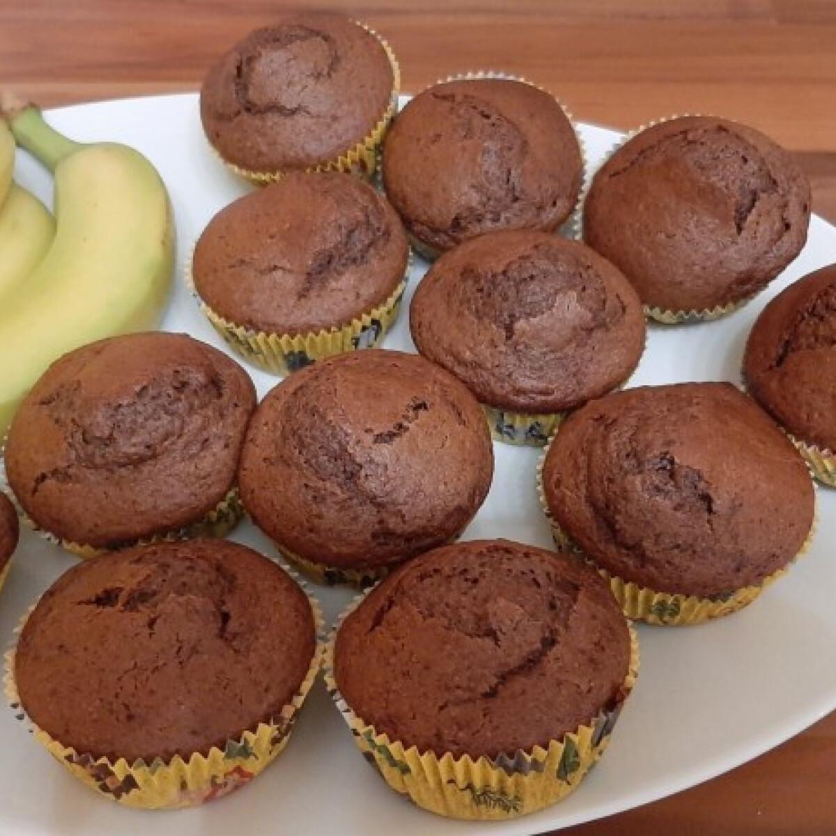 Ezen a képen: Banános csokis muffin Bazsarózsa konyhájából