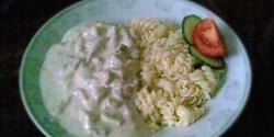 Gombás-tejszínes sertésragu