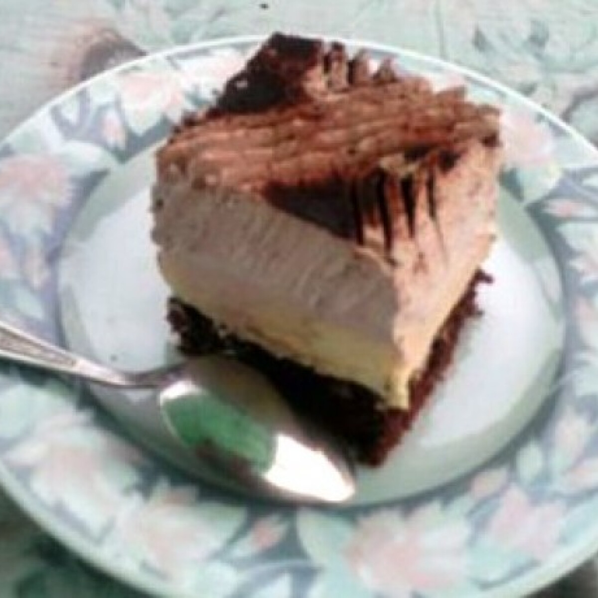 Ezen a képen: Vaníliapudingos-kakaós szelet