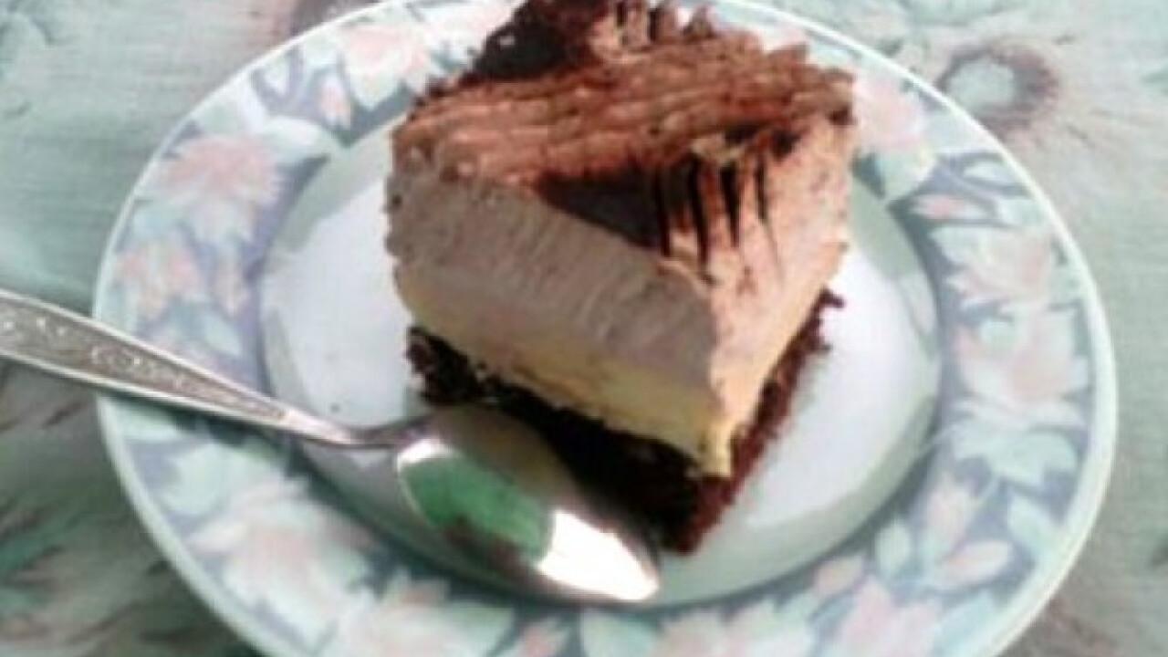 Vaníliapudingos-kakaós szelet