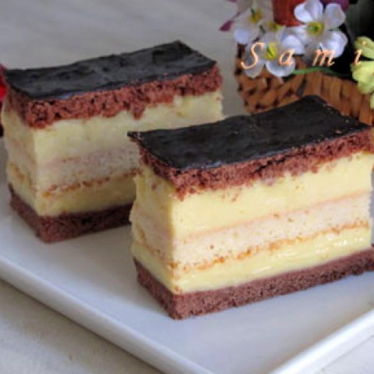 Ezen a képen: Rumos-csokoládés szelet