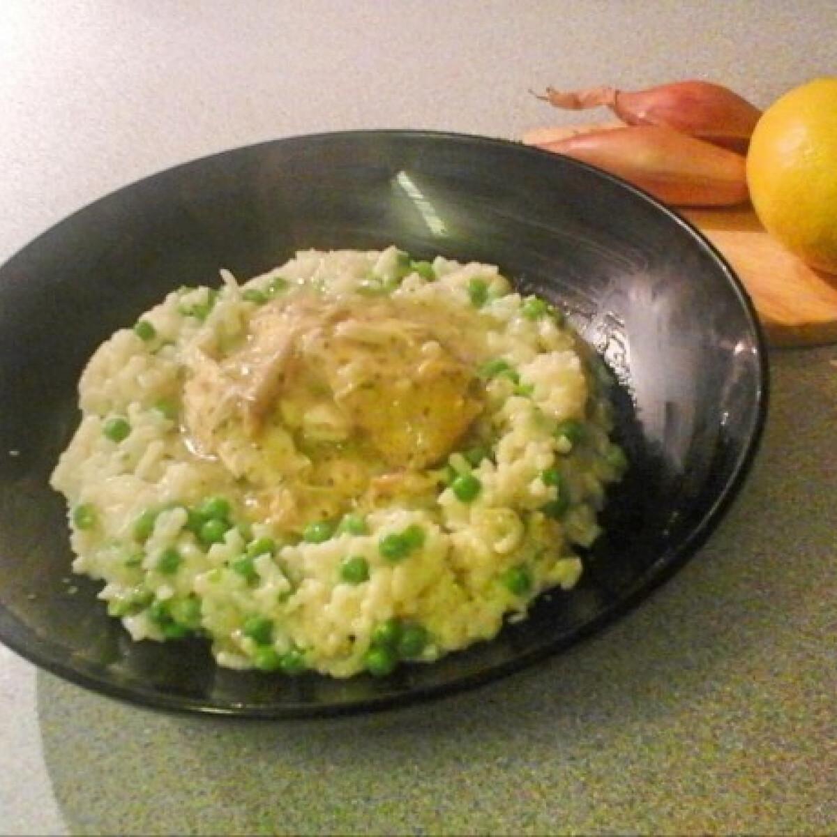 Ezen a képen: Citromos csirke Slow Cookerban rizottóval