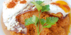 Sárgarépa-főzelék tükörtojással