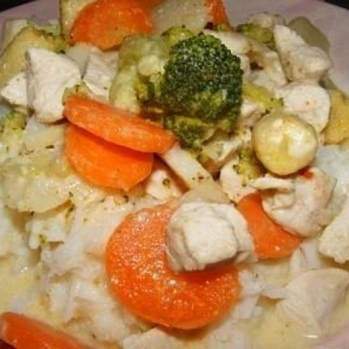 Ezen a képen: Kókuszos-zöldséges csirke