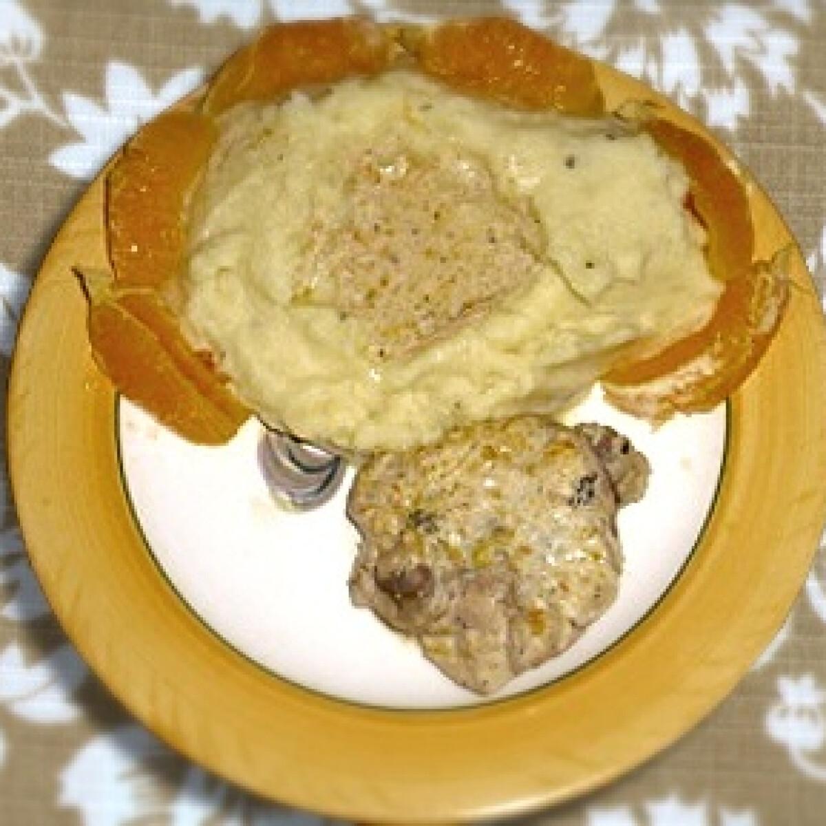 Ezen a képen: Narancsos csirke 2. - kakukkfüves burgonyapürével