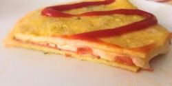 Sajtos-sonkás omlett