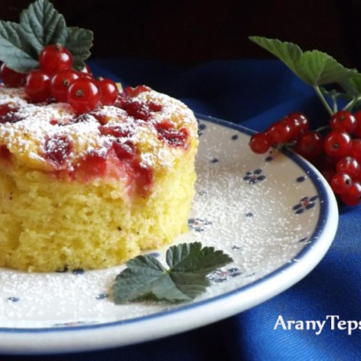 Ezen a képen: Egyszerű ribizlis sütemény