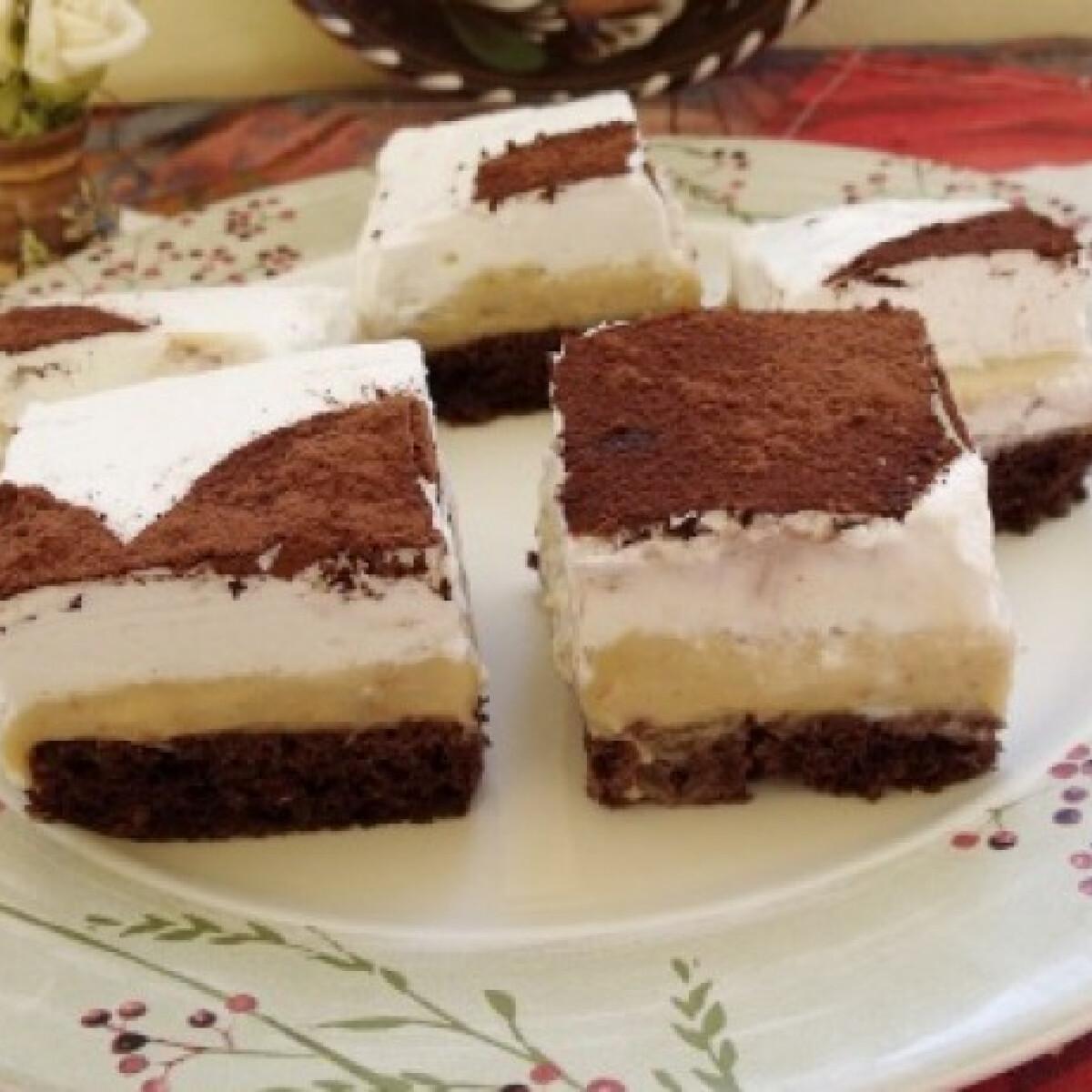 Ezen a képen: Gesztenyés habos sütemény Györgyitől