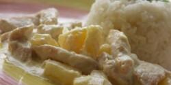 Tejszínes ananászos csirke
