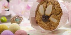 Datolyás-kókuszos cukormentes zabpelyhes muffin