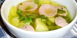 Nyári újkrumplileves krinolinnal és zöldbabbal