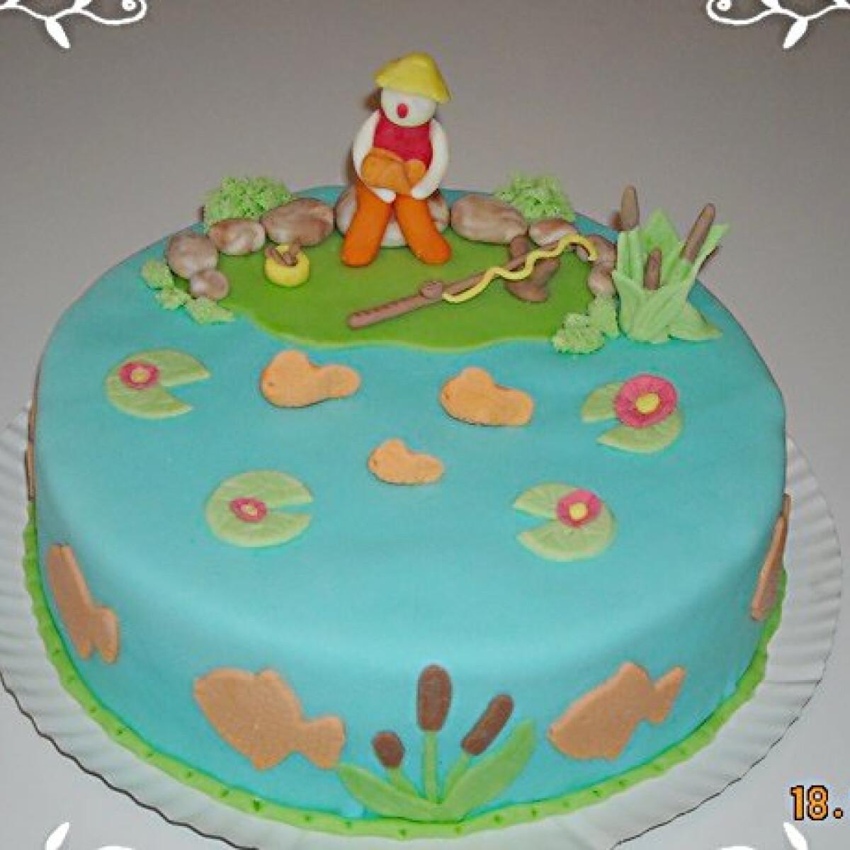 Ezen a képen: Horgász torta